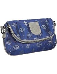 Poodlebags Club - Attrazione - Venezia - 3CL0313VENEB, Pochette donna 25x14x4 cm (L x A x P), Blu (Blau (blue)), 25x14x4 cm (L x A x P)