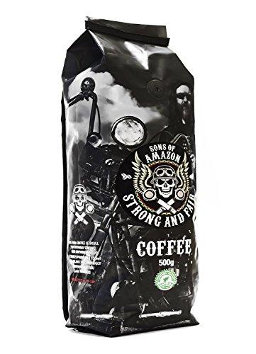Sons of Amazon - 500g - Der stärkste Kaffee im Vereinigten Königreich - STARK UND FAIR - Rocky Grind - Steinig