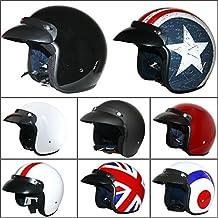 Leopardo LEO-604 Open Casco Casco de la motocicleta motocicleta motocicleta Crash Helmet Road Legal Negro mate L