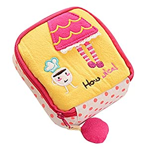 Sanitary Napkin Bag - SODIAL(R) Girl's Cute Cartoon Sanitary Napkin Towel Pads Small Bag Purse Holder Organizer£¨yellow£©
