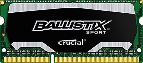 Ballistix Sport 4GB Single DDR3 1600 MT/s (PC3-12800) SODIMM 204-Pin Memory - (S 4 Sodimm Memoria)