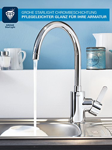 Grohe Start Loop Küchenarmatur, hoher Auslauf, Schwenkbereich 360°, (31374000) - 4