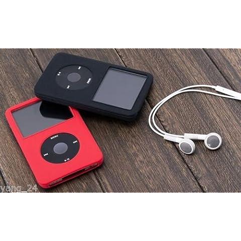 igadgitz Rosa Case Silicona Funda Cover Carcasa para Apple iPod Classic 80/120/160GB + Pantalla Protector