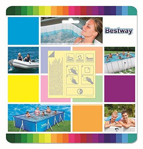 Bestway 8320544 8320544-Kit Parches para Reparar Piscina Llena, Azul, 23x22x1 cm