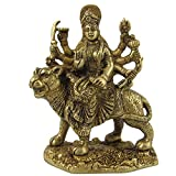 Crafthut Brass Statue / Idol Of Goddess Durga Ma ,(Lxbxh - 4 X 2 X 5.25) Inches Weight - 0.9 Kg