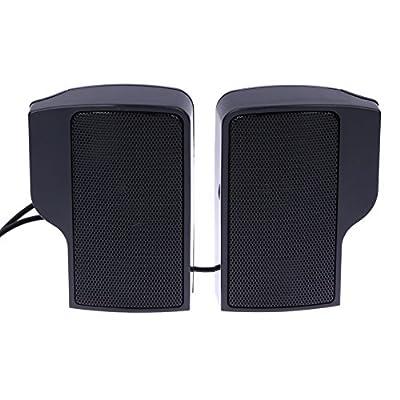 DOMYBEST Mini Haut-parleur Stéréo Portable USB Soundbar pour Notebook Laptop Mp3 Phone PC de Domybest