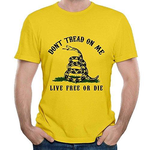 Don't Tread On Me Rattlesnake Men Casual Short Sleeve T-Shirt