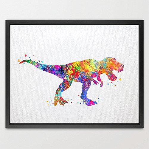 dignovel Studios T-Rex Dinosauro stampa Artistica pittura ad acquerello arte stampa Artistica Da Parete Per Bambini Nursery Wall Decor Art Home decorazione da parete n109-unframed