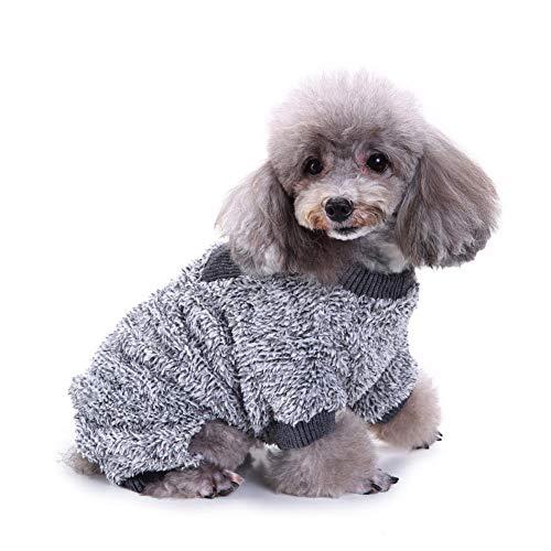 Unbekannt PER Fuzzy Fleece Thermische Haustierbekleidung für Hundepyjamas Mantel Overall Klimaanlage Zimmer Hund Siamesischer Vierbeiner Schlafanzug -
