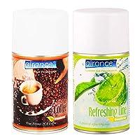 Airance Room Freshner Spray Automatic Room Freshener Refill Coffee & Refreshing Lime - 250 ML- Fit All Machines Using 250 ML / 300 ML Bottles
