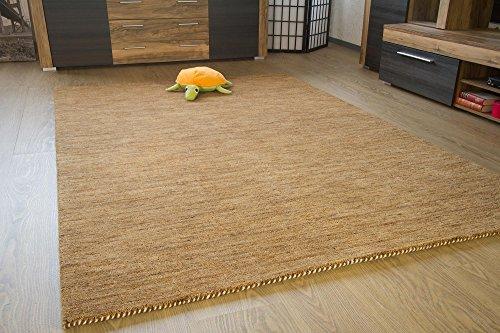 Gabbeh Teppich Nomade - Handarbeit aus 100% Schurwolle - sand meliert, Größe: 160x230 cm -