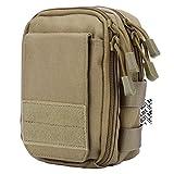 LefRight multipropósito táctico de Molle bolso de la cintura bolsa de la pistolera combinado utilidad correa de liberación rápida desmontable (Khaki)