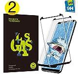 MrFilm Samsung Galaxy S8 Panzerglas Schutzfolie, Hohe Qualität Geshärtetem Glass [2 Stück] [Einfaches Anbringen] [9H Härte] [Anti-Kratzer] Panzerglas Schutzfolie für Samsung Galaxy S8