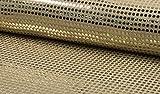 StoffBook GOLD/WEIß PAILLENTTENSTOFF GROßE TUPFEN PAILLETTEN STOFF STOFFE, D527