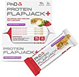 PhD Nutrition Protein Flapjack+ Bars, Apple & Raspberry - Pack of 12 x 75g