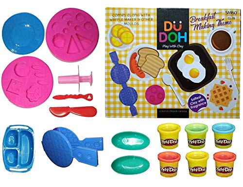MAGNIFICO Du Doh Breakfast Making Theme Game Time Dough Toy - Clay Dough for Kids (DU DOH)