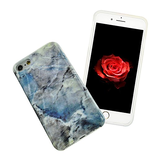 iPhone 8 Hülle, iPhone 8 Marmor Handyhülle, iPhone 8 Marble Hülle, Sunroyal Marmor Serie Flexible TPU Silikon Schutz Handy Hülle Handytasche HandyHülle Schale Case Cover Schutzhülle für Apple iPhone 7 Farbe 19