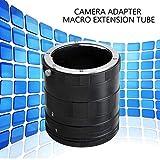 Adaptador de cámara Anillo de Tubo de extensión Macro para Nikon F-Mount Lente de cámara DSLR (Color: Negro)