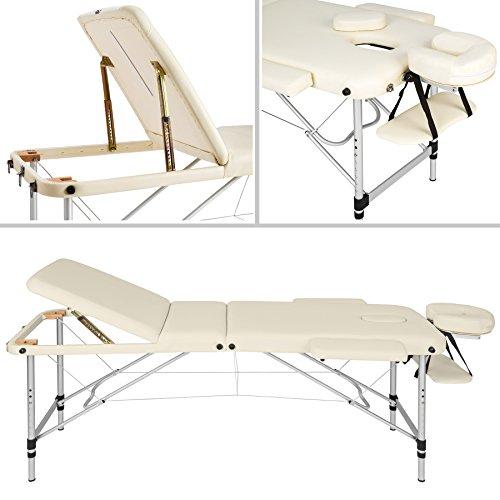 TecTake Massageliege – Aluminium 3 Zonen - 2