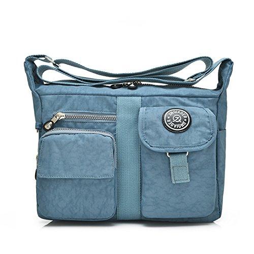 Designer Handtasche Nylon (Outreo Messenger Bag Designer Umhängetasche Mädchen Taschen Schultertasche Handtasche Wasserdichte Kuriertasche Damen Sporttasche Reisetasche für Strandtasche Nylon)