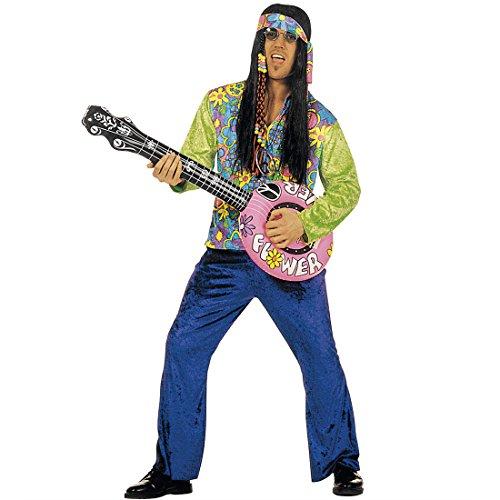 Aufblasbare Gitarre Deko Luftgitarre Musikinstrument Banjo Hippie Party Instrument Dekoration Partydeko Musik Schlagerparty Schlager Rockstar 70er Jahre Mottoparty Zubehör Aufblasbare Artikel Raumdeko