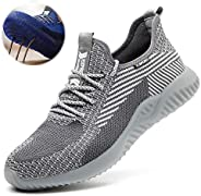 Men'S Work Safety Shoes, Lightweight, Autumn and Winter Style, Steel Toe Protect Trainer Shoes, Hiking Sho