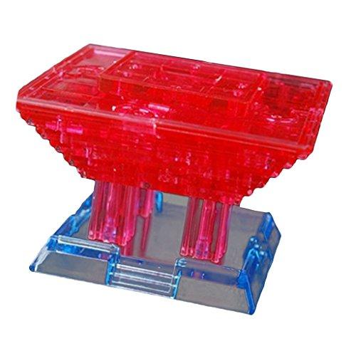 Baoblaze 3d Delphin Eiffelturm Fisch Dekoration Crystal Puzzle - chinesisches pavillion