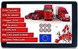 Navigateur DBPOWER-772 GPS 7 Pouces EU 2018 Poids Lourds Camion Version HD
