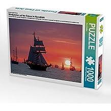 Ein Motiv aus dem Kalender Windjammer auf der Ostsee im Abendlicht 1000 Teile Puzzle quer: Segelschiffe auf der Ostsee im Sonnenuntergang (CALVENDO Natur)