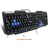 Amkette Xcite Neo Wired USB Keyboard with UV Coating, Spill Resistant, Internet and Multimedia Keys (Black)