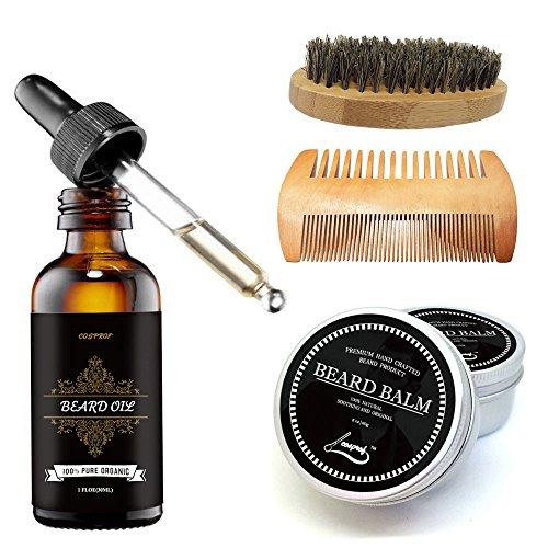 cosporf Beard Balm Schnurrbart Creme Creme Öl-Balsam Spülung Gesunde moisturante Schnurrbart Wachs Brush Comb