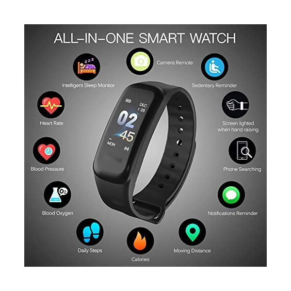 Explopur Smart Bracelet Women Men - IP67 Fitness Tracker Watch-Heart Rate Presión sanguínea Oxígeno sanguíneo Contador… 6