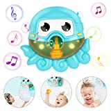 Gifort Seifenblasenmaschine Badewanne, Baby Badewannenspielzeug, Bubble Blase Badespielzeug, Octopus Seifenblasenmaschine Wasserspielzeug mit 42 Musik Lied für Kinder Geschenk