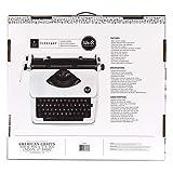 We R Memory Keepers 663063 Machine à écrire Blanche, Plastique, Blanc, 49,5 x 19,8 x 39,6 cm