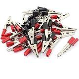 26 piezas de pinzas de cocodrilo placa de pruebas abrazadera 55 mm y rojo
