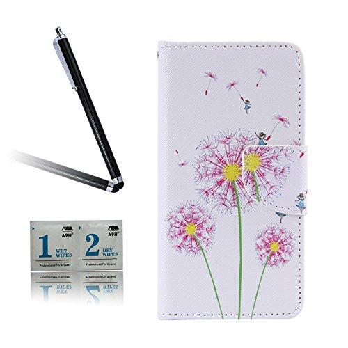 ARTLU® BQ Aquarius M5.0 Taschen Schalen PU Leder Tasche Schutzhülle Hülle Handy Etui Schale mit Ständerfunktion und Kreditkartenfächer für BQ Aquaris M5 (5.0 inches)A01