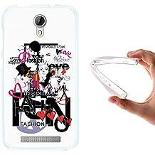 Funda Doogee Valencia 2 Y100 - Y 100 Pro, WoowCase [ Doogee Valencia 2 Y100 - Y 100 Pro ] Funda Silicona Gel Flexible Moda Fashion Love, Carcasa Case TPU Silicona - Transparente