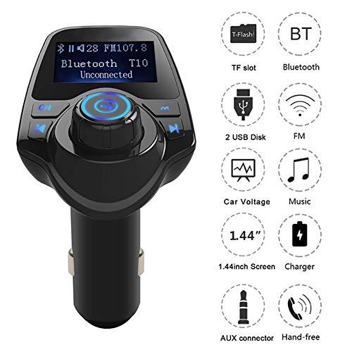 YSHtanj KFZ-FM-Transmitter & Zubehör-Adapter T11 Auto LCD Bluetooth MP3 Player FM Transmitter Freisprecheinrichtung Dual USB Ladegerät - Digitale Lcd-dvr