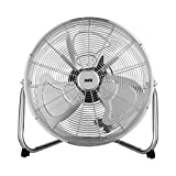 "ANSIO 18"" Chrome Gym Floor Standing Fan with 3 Speeds and 120 Degrees"