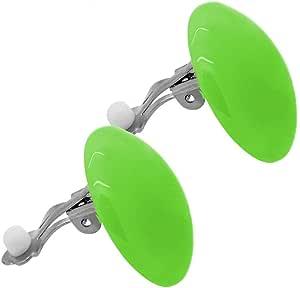 tumundo Set di 2 o 10 Pezzi / 1 Pezzo Clip Orecchio Falso Fake Orecchino Ragazza Grande XXL Acrilico Palla Tondo Donne, variante:verde