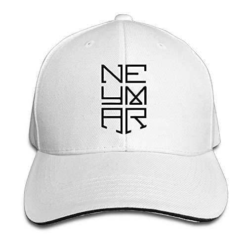 Hittings Neymar Sandwich Peaked Hat/Cap White (Neymar-kappe)