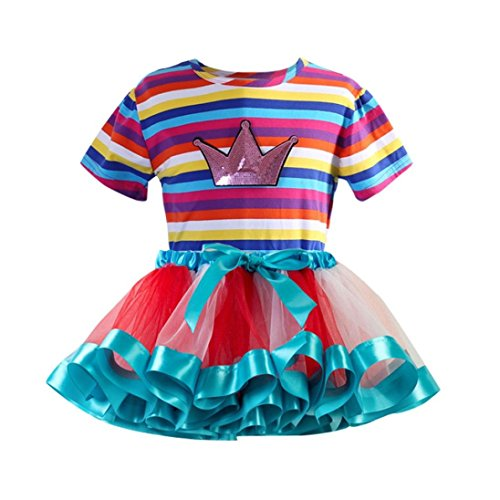 �m Rock Kinder (3T-9T) Mädchen Tutu Tüll Party Tanz Ballett Kinder (Günstige Ballett Tanz Kostüme)