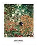 Artland Poster Kunstdruck Wand-Bild Fine-Art-Print in Galeriequalität Reproduktionen Gustav Klimt Blühender Garten Botanik Blumenwiese Malerei Bunt 50 x 40 x 0,1 cm A0UJ