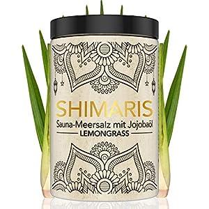 Saunasalz 400g Lemongrass Peeling mit Jojobaöl Peelingsalz für die Sauna mit Vitamin E Körperpeeling mit Meersalz und Duft Aufguss Duschen