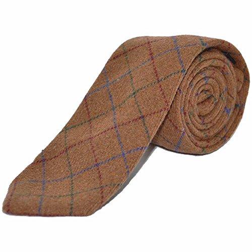Heritage Cravatta A Quadri Marrone