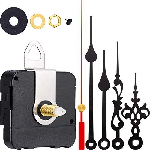 2 Paar Hände Quartz Uhrwerk DIY Wanduhr Bewegungsmechanismus Clock Ersatzteile Ersatz (Schaftlänge 1-1/5 Zoll/ 31 mm)