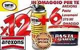 12x Svitol - Arexons sboccante Multiuso Lubrificante Antiossidante 400 ml - 4129 +6x Pasta Lavamani 375 Ml Omaggio