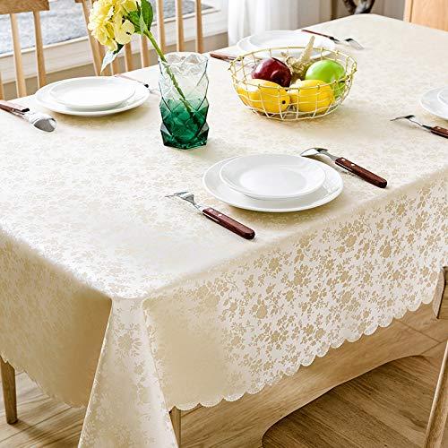 Lyinhgl in stile europeo stampa in pvc impermeabile tovaglia ristorante ristorante tovaglia rettangolare, champagne dudan, 90 * 150 cm