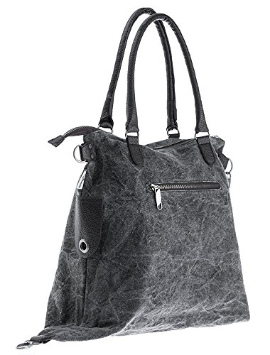 Bags4Less - F3151, Borsa a tracolla Donna Washed-Schwarz