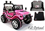 AUTO ELETTRICA 12V JEEP 2 POSTI PER BAMBINI CON TELECOMANDO 2.4G SOFT START FULL OPTIONAL PINK